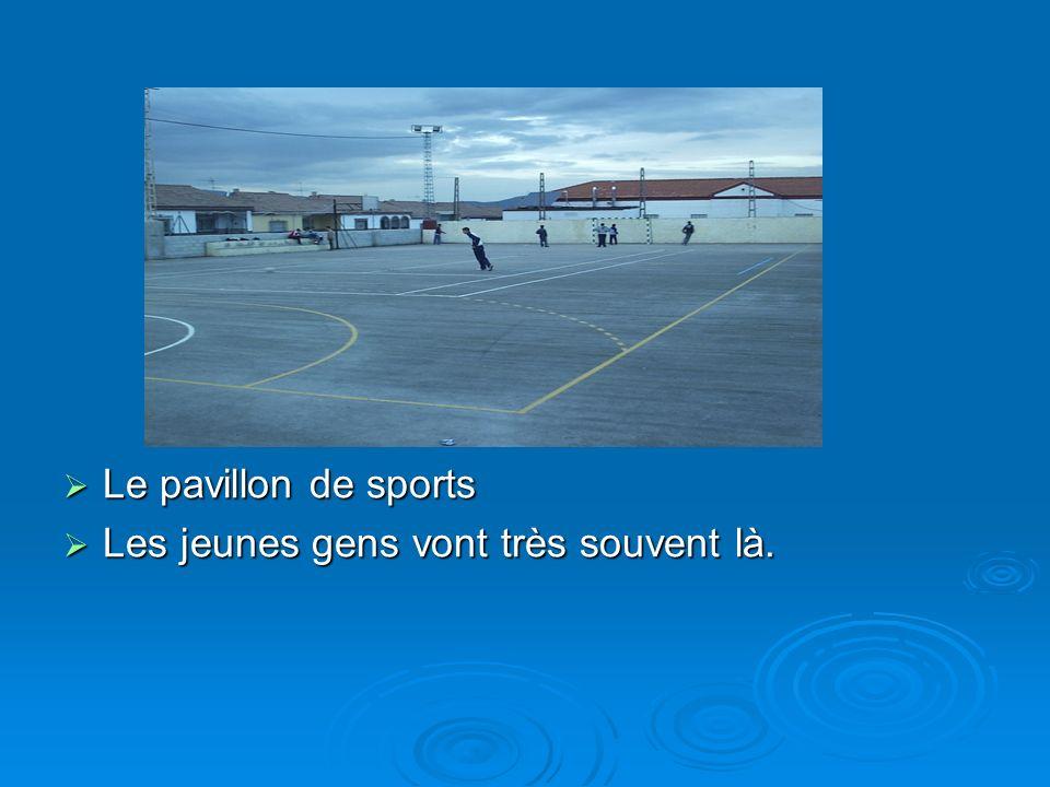 Le pavillon de sports Les jeunes gens vont très souvent là.