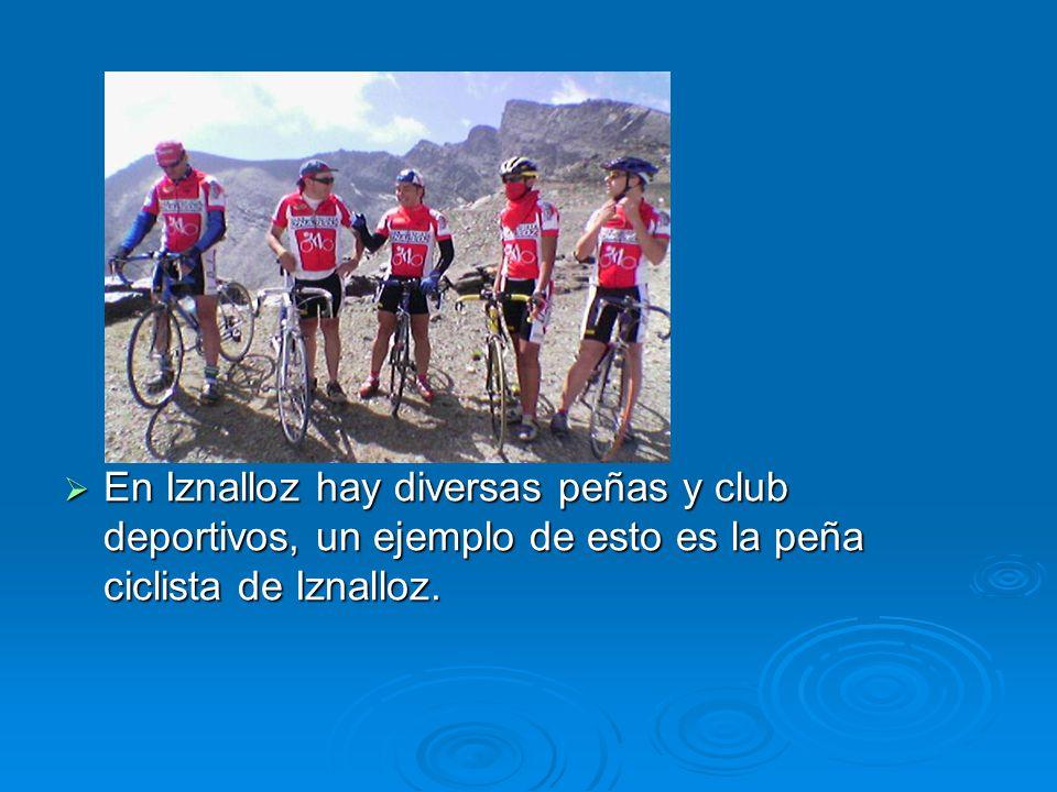 En Iznalloz hay diversas peñas y club deportivos, un ejemplo de esto es la peña ciclista de Iznalloz.