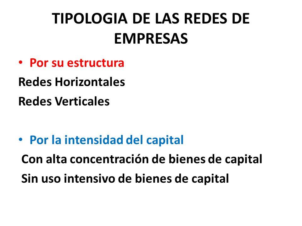 TIPOLOGIA DE LAS REDES DE EMPRESAS