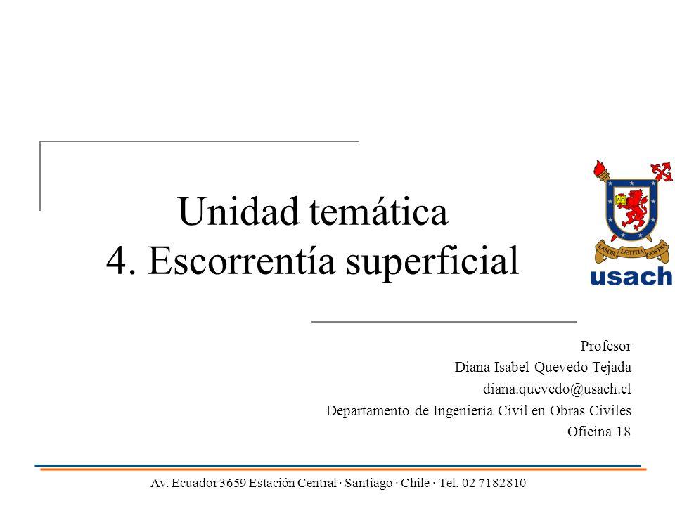Unidad temática 4. Escorrentía superficial