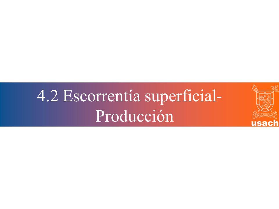 4.2 Escorrentía superficial-Producción
