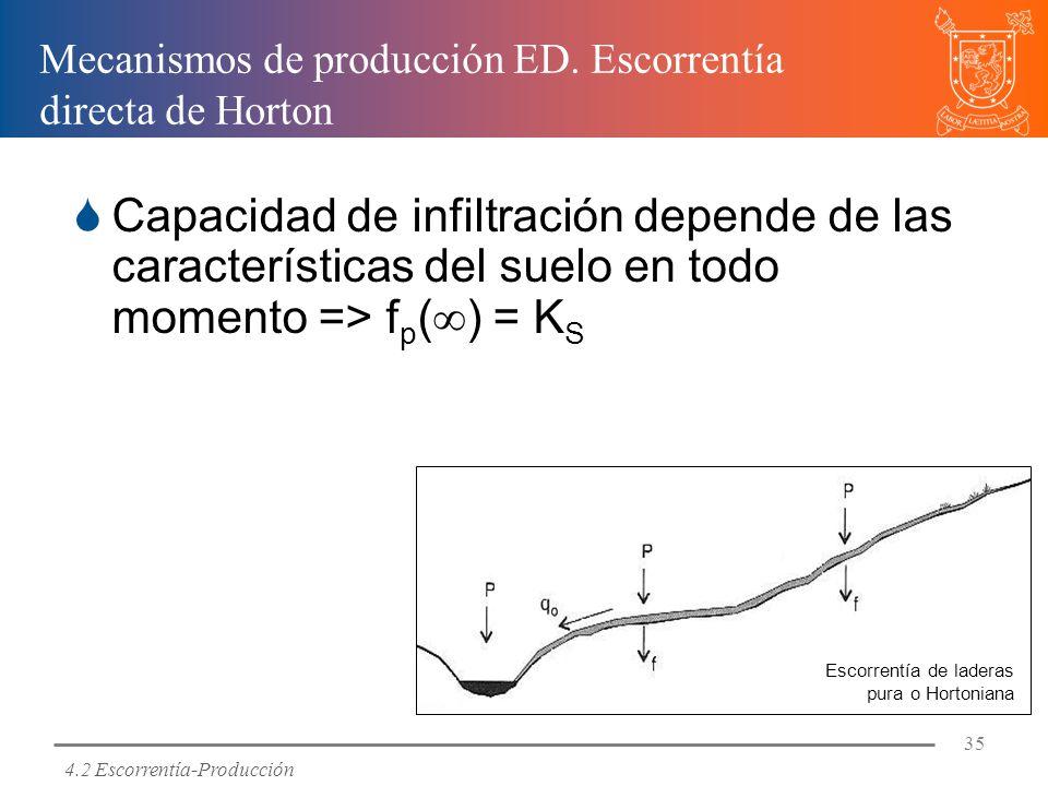 Mecanismos de producción ED. Escorrentía directa de Horton