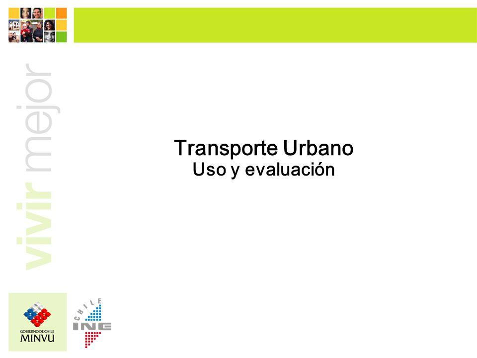 Transporte Urbano Uso y evaluación