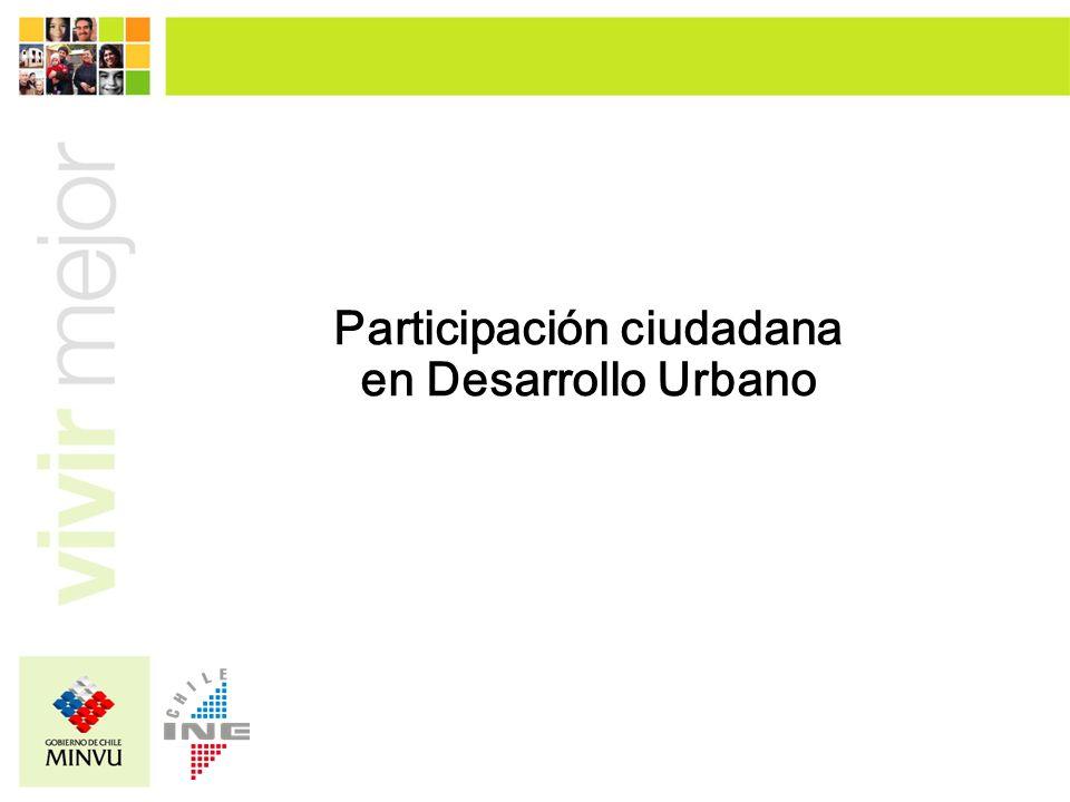 Participación ciudadana en Desarrollo Urbano
