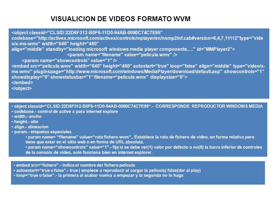 VISUALICION DE VIDEOS FORMATO WVM