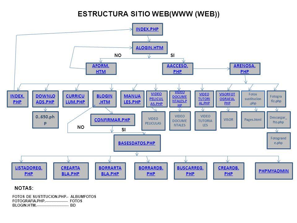 ESTRUCTURA SITIO WEB(WWW (WEB))