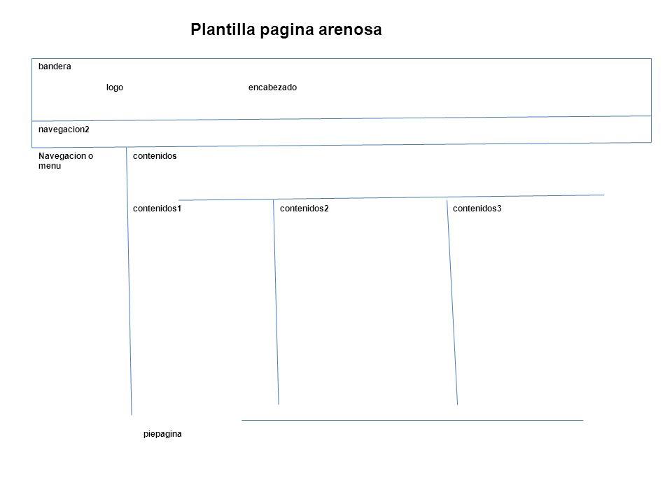 Plantilla pagina arenosa