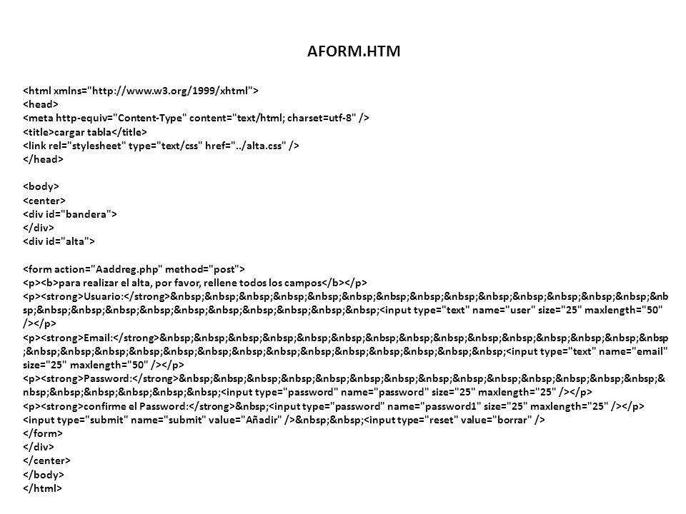 AFORM.HTM <html xmlns= http://www.w3.org/1999/xhtml >