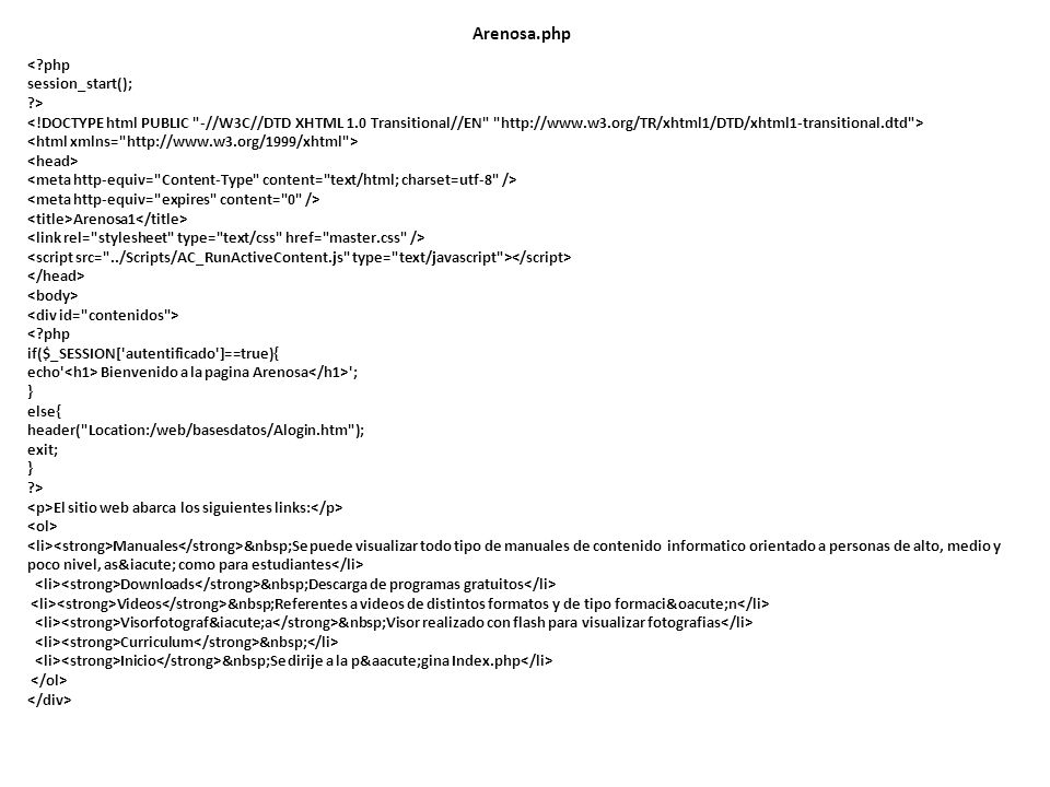 Arenosa.php < php session_start(); >
