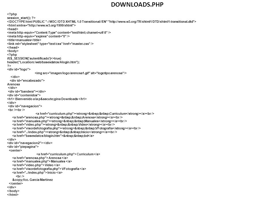 DOWNLOADS.PHP < php session_start(); >