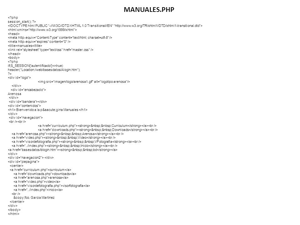 MANUALES.PHP < php session_start(); >