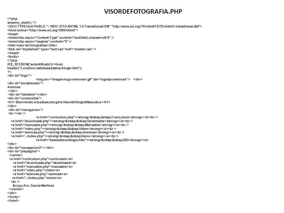 VISORDEFOTOGRAFIA.PHP < php session_start(); >