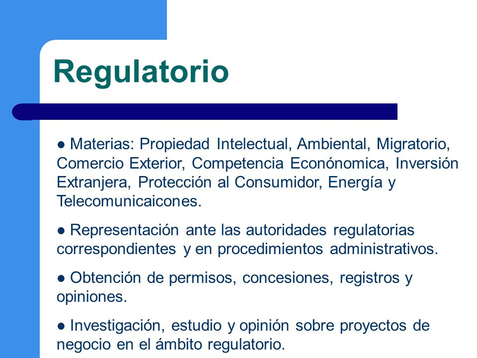Regulatorio