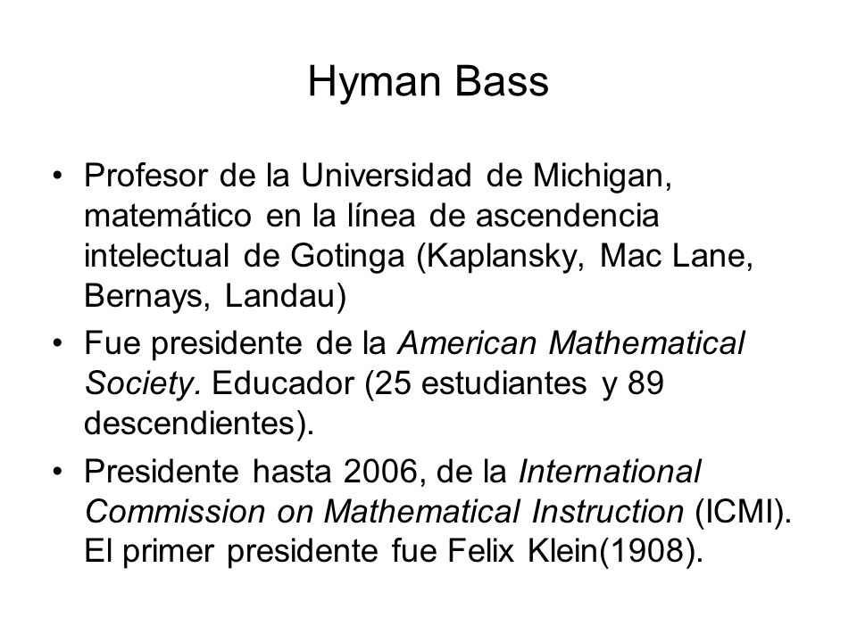 Hyman Bass