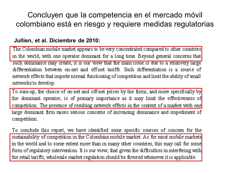 Concluyen que la competencia en el mercado móvil colombiano está en riesgo y requiere medidas regulatorias