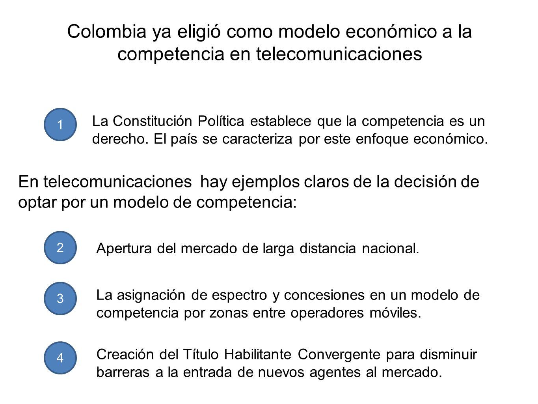 Colombia ya eligió como modelo económico a la competencia en telecomunicaciones