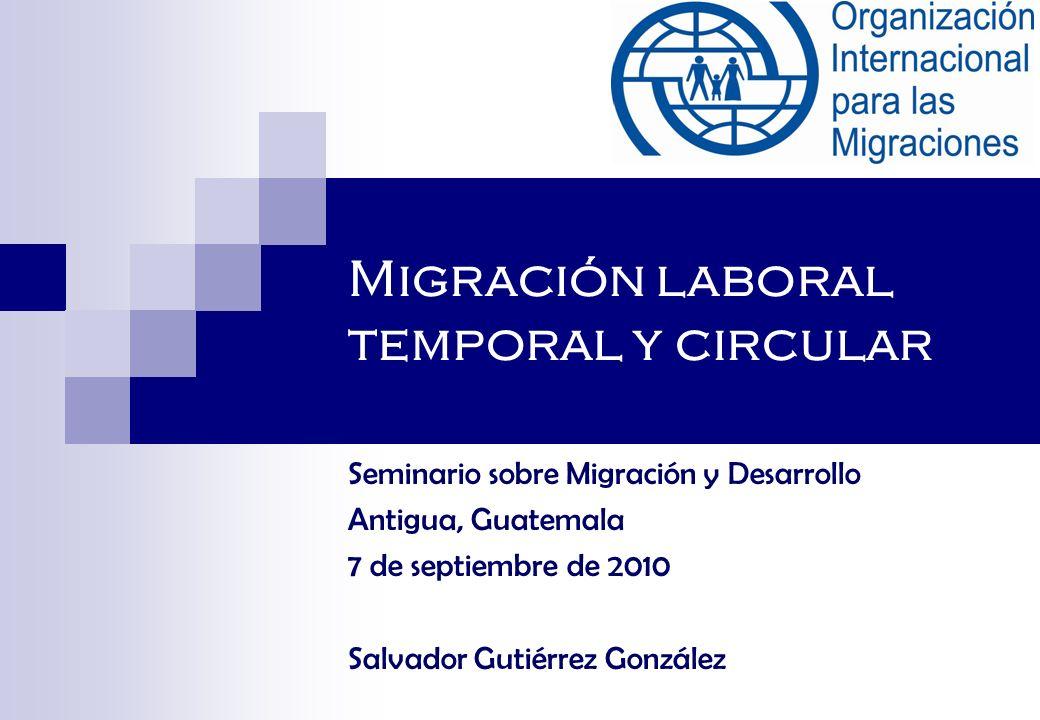 Migración laboral temporal y circular