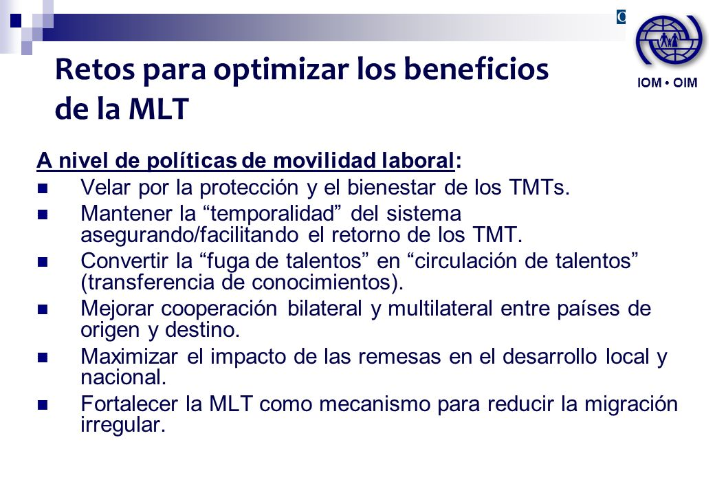 Retos para optimizar los beneficios de la MLT