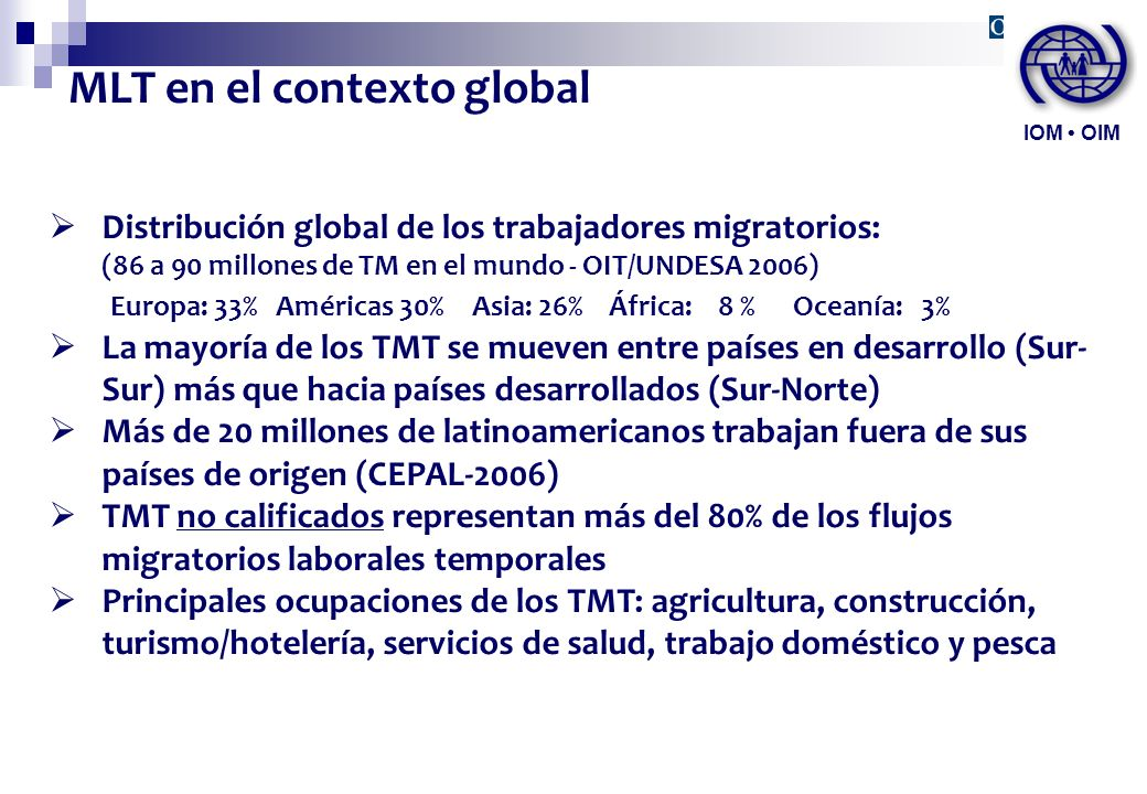 MLT en el contexto global