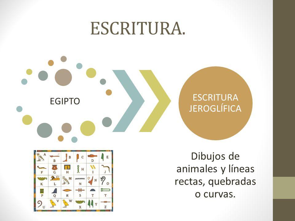ESCRITURA. Dibujos de animales y líneas rectas, quebradas o curvas.