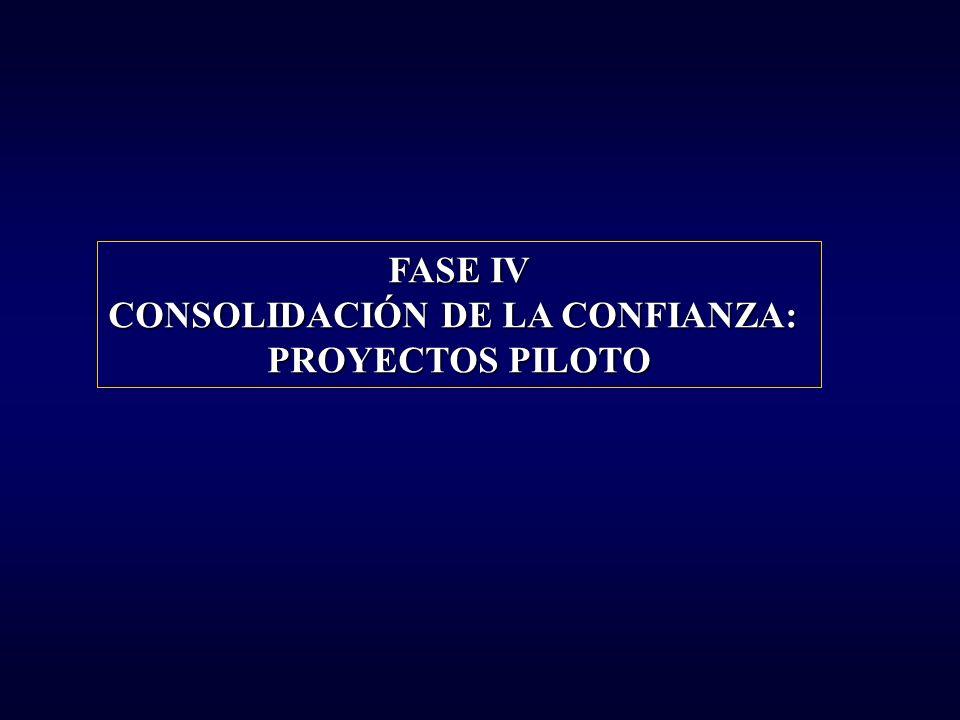 FASE IV CONSOLIDACIÓN DE LA CONFIANZA: