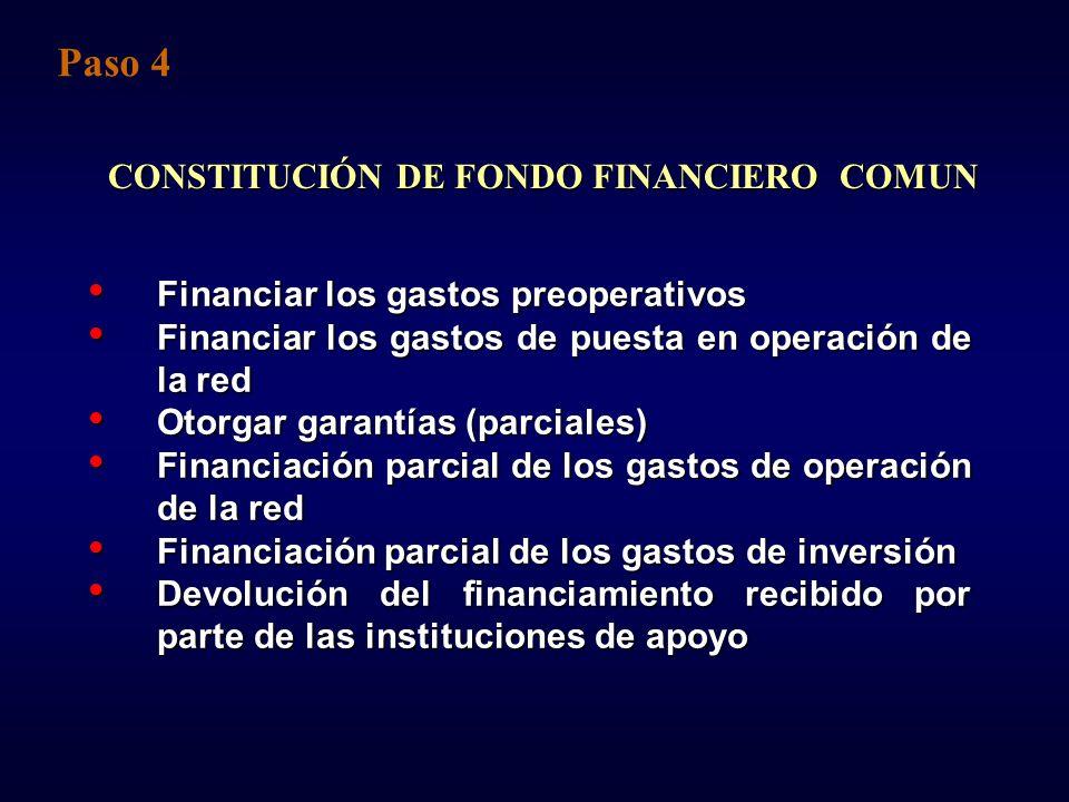 CONSTITUCIÓN DE FONDO FINANCIERO COMUN