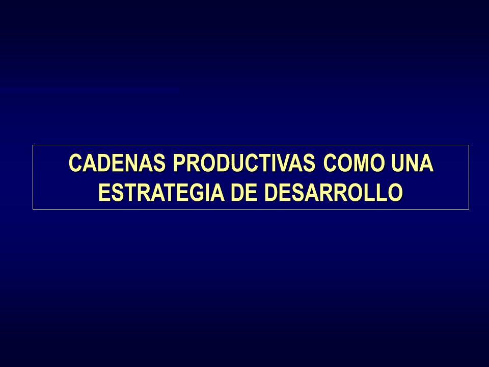 CADENAS PRODUCTIVAS COMO UNA ESTRATEGIA DE DESARROLLO