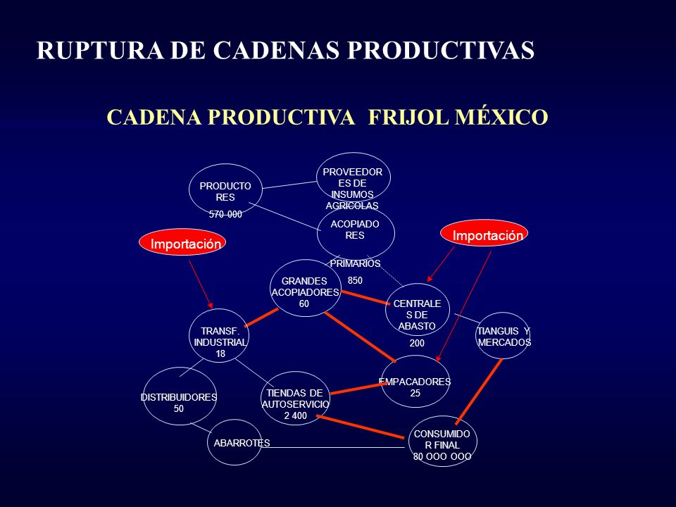 CADENA PRODUCTIVA FRIJOL MÉXICO