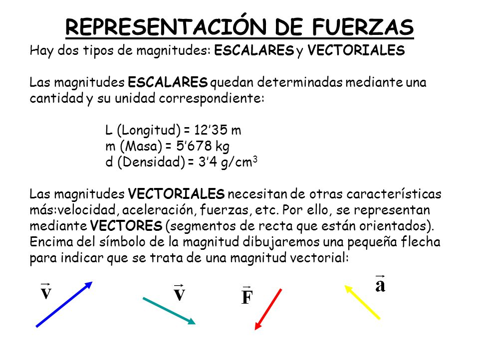 REPRESENTACIÓN DE FUERZAS