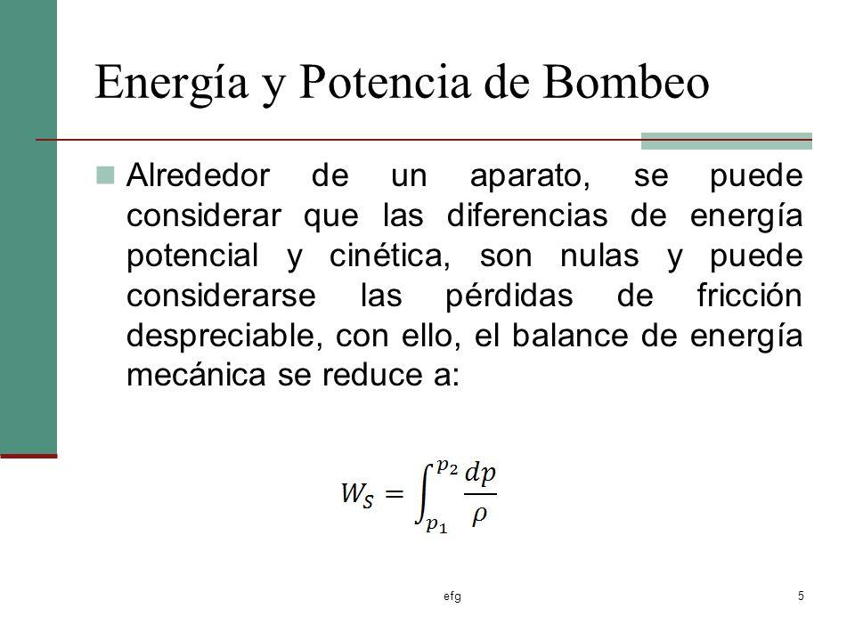 Energía y Potencia de Bombeo