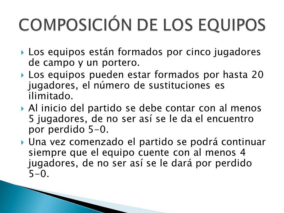 COMPOSICIÓN DE LOS EQUIPOS