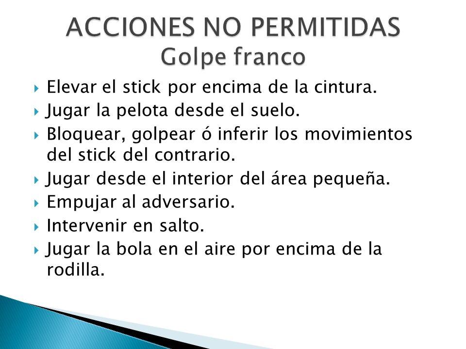 ACCIONES NO PERMITIDAS Golpe franco