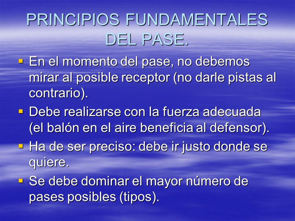 PRINCIPIOS FUNDAMENTALES DEL PASE.