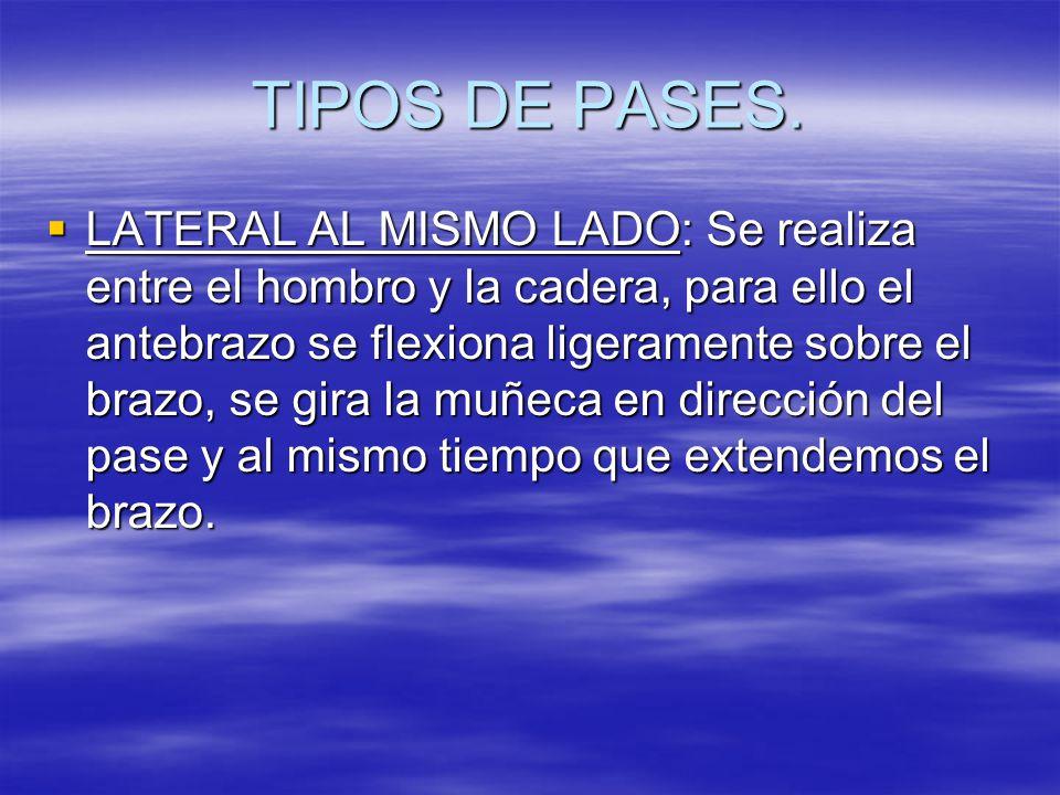 TIPOS DE PASES.