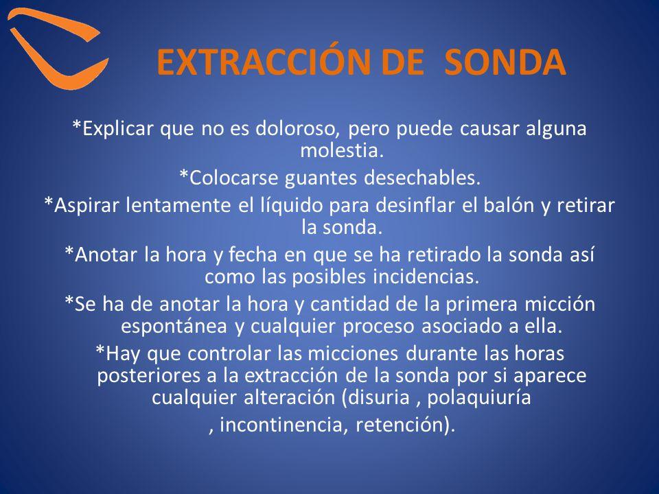 EXTRACCIÓN DE SONDA