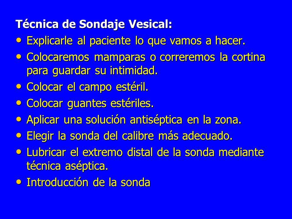 Técnica de Sondaje Vesical: