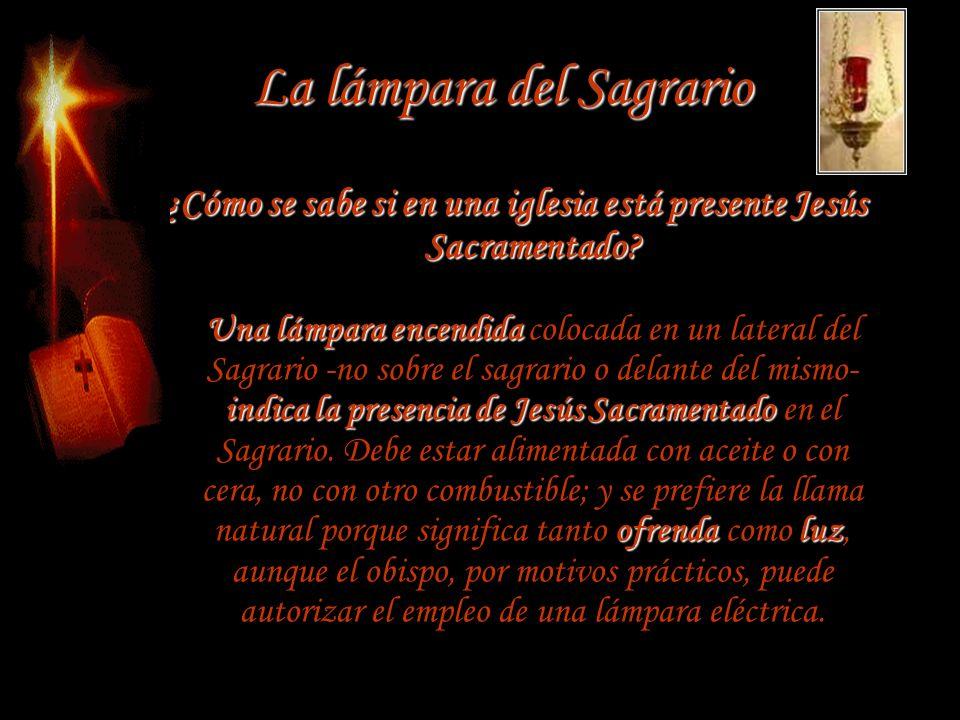 La lámpara del Sagrario
