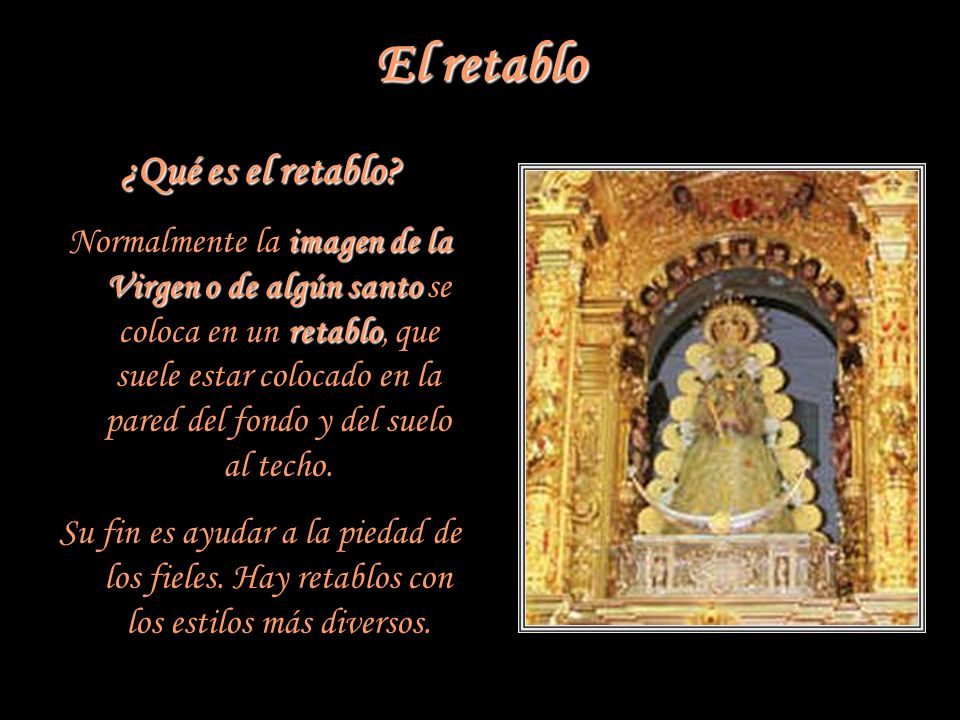 El retablo ¿Qué es el retablo