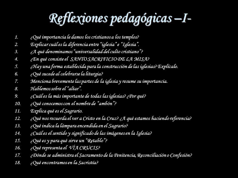 Reflexiones pedagógicas –I-