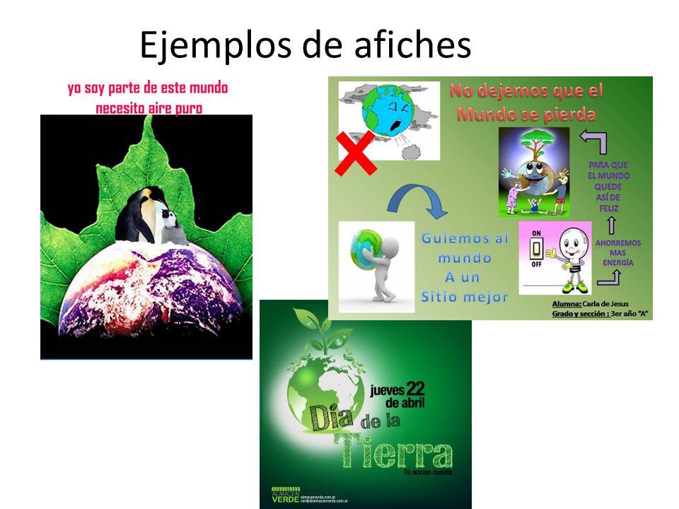 Ejemplos de afiches