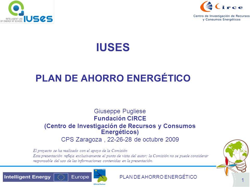 IUSES PLAN DE AHORRO ENERGÉTICO