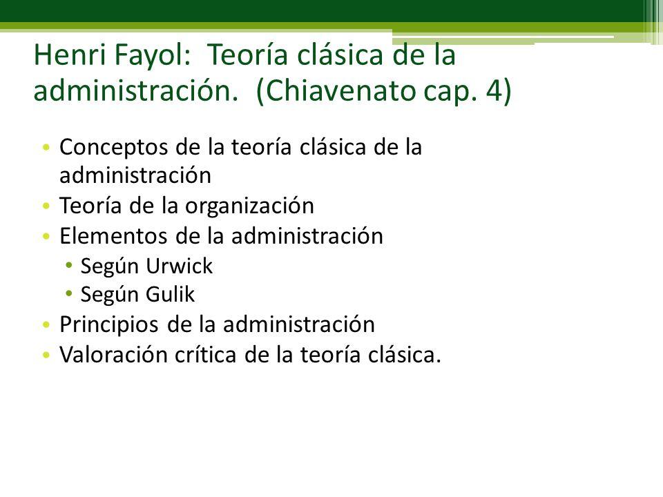 Henri fayol teor a cl sica de la administraci n for Concepto de organizacion de oficina