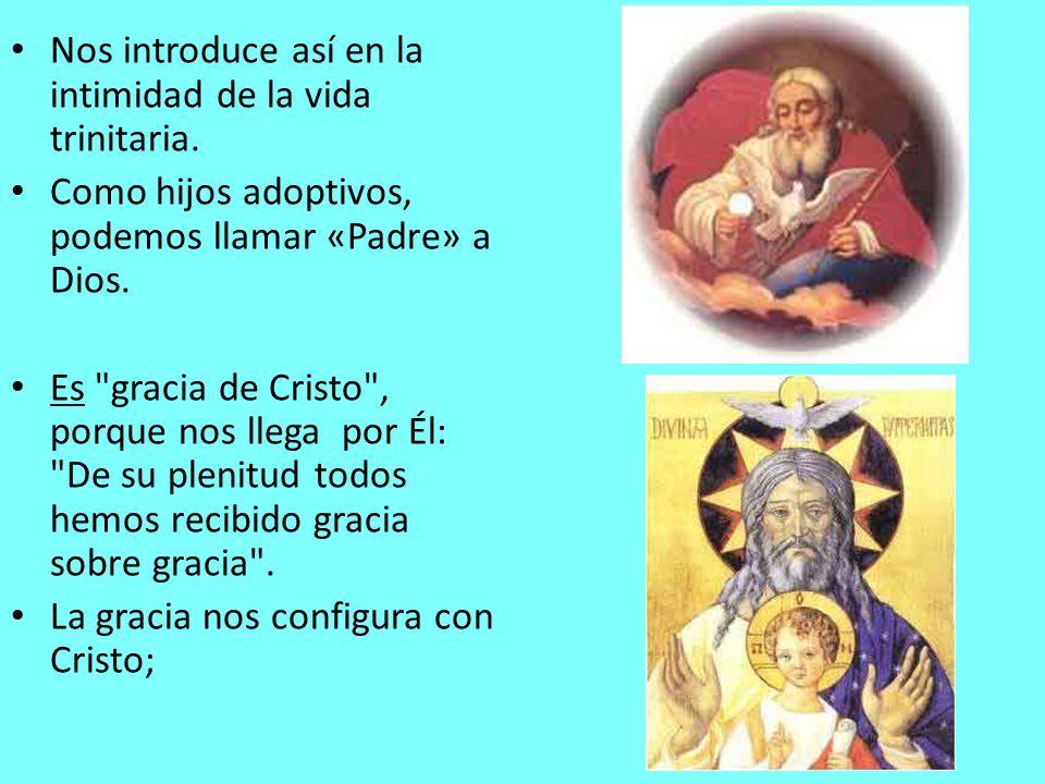 Nos introduce así en la intimidad de la vida trinitaria.