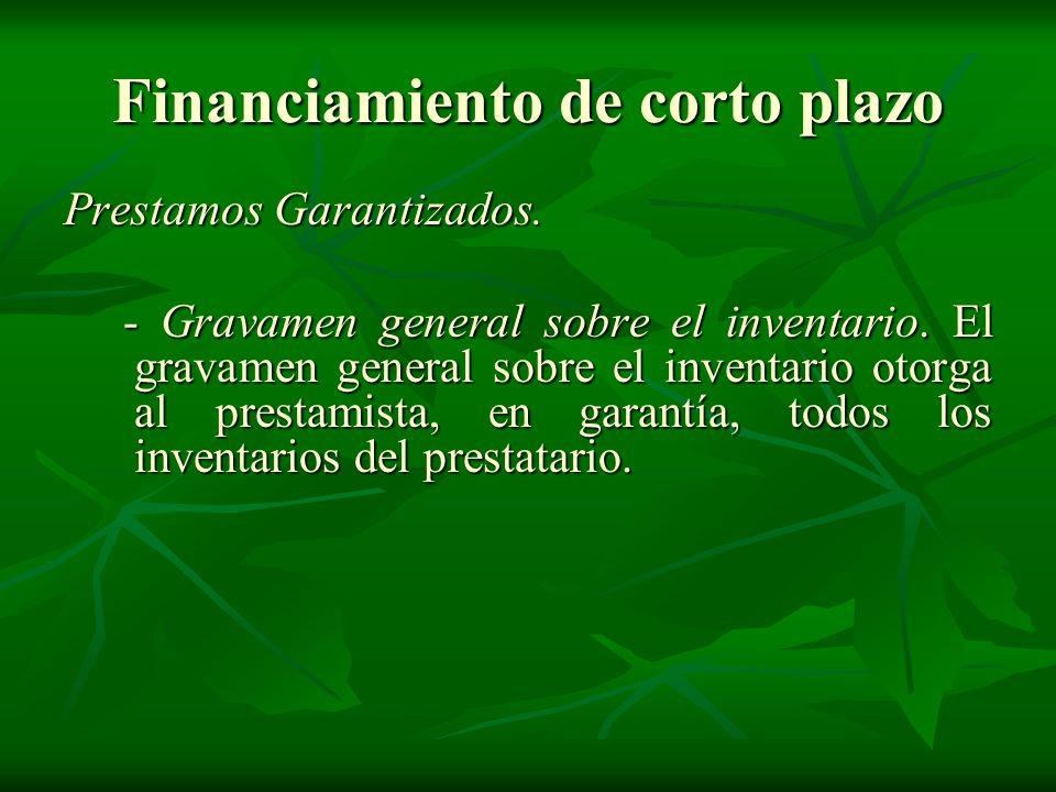Financiamiento de corto plazo