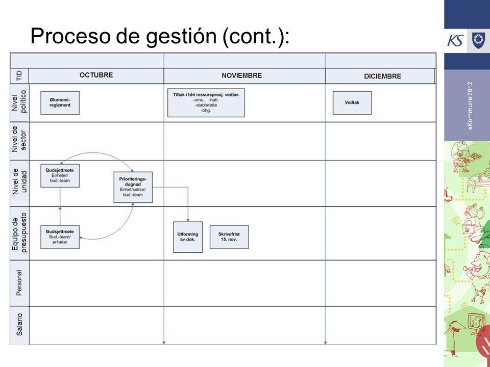 Proceso de gestión (cont.):