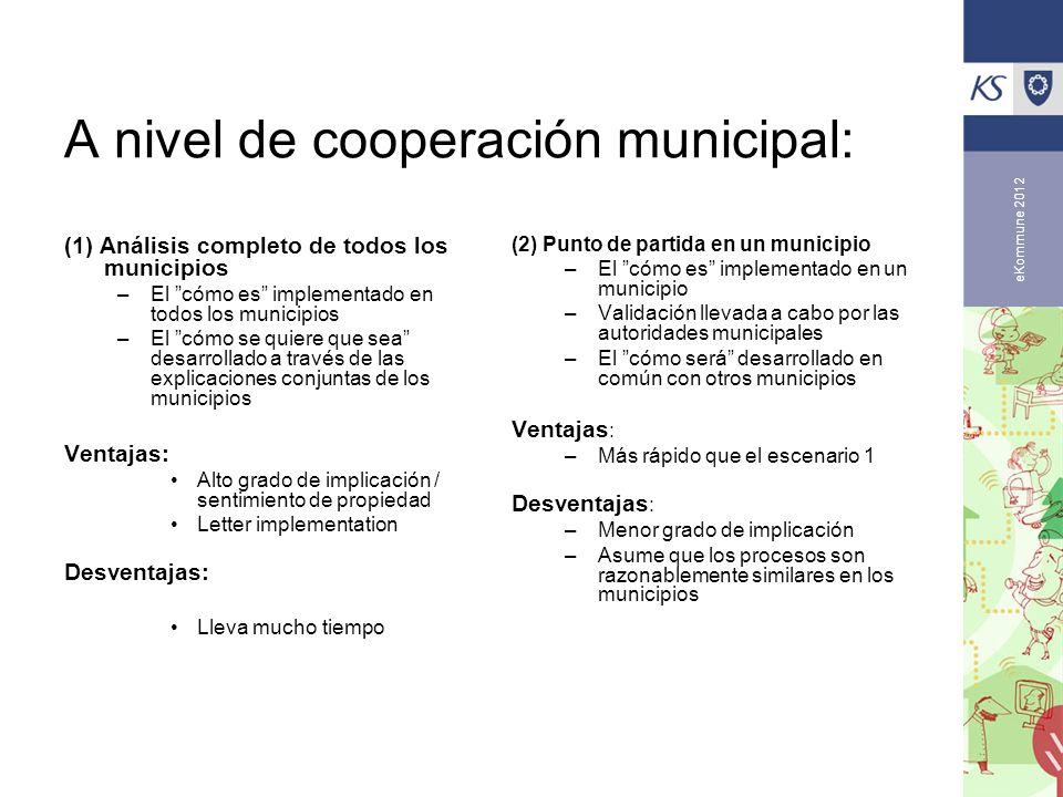 A nivel de cooperación municipal: