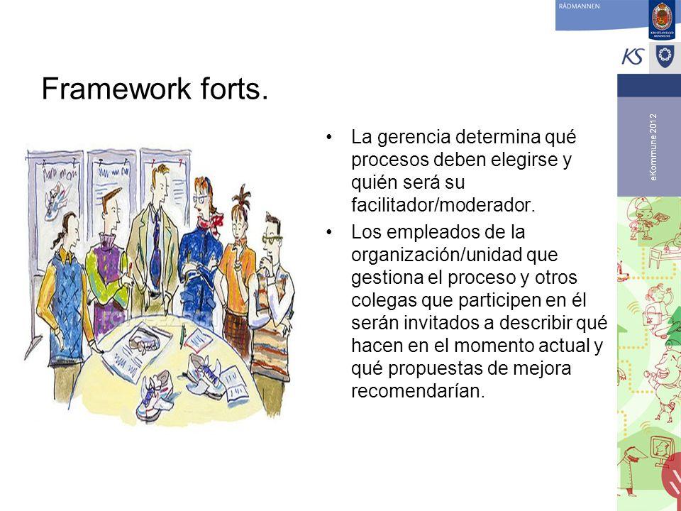 Framework forts. La gerencia determina qué procesos deben elegirse y quién será su facilitador/moderador.