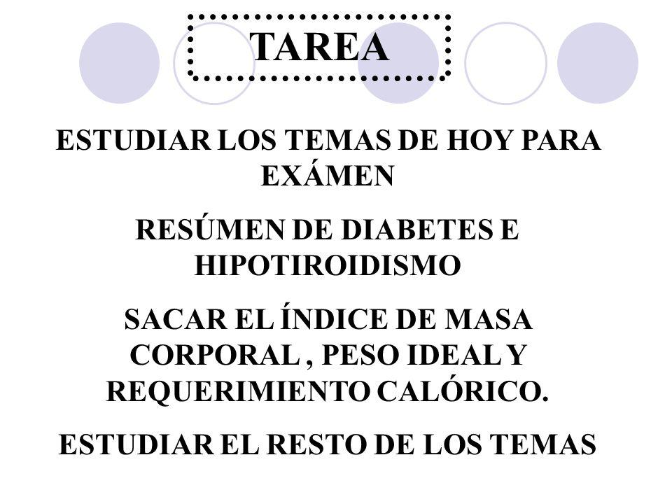 TAREA ESTUDIAR LOS TEMAS DE HOY PARA EXÁMEN