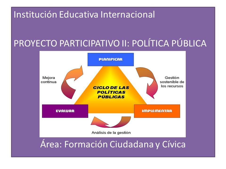 Instituci n educativa internacional proyecto participativo for Que es politica internacional