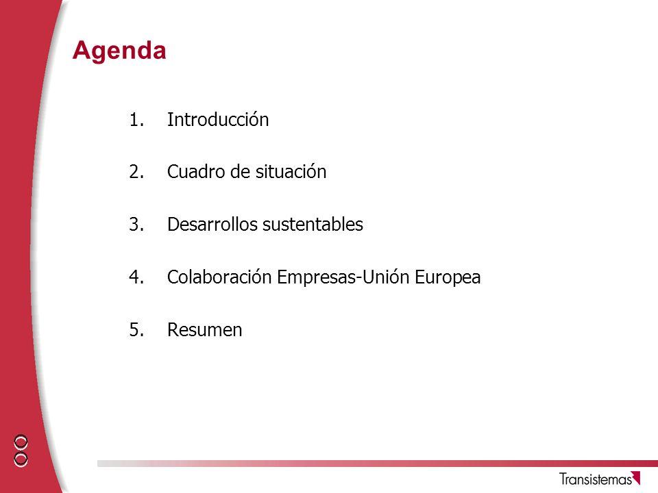 Agenda Introducción Cuadro de situación Desarrollos sustentables